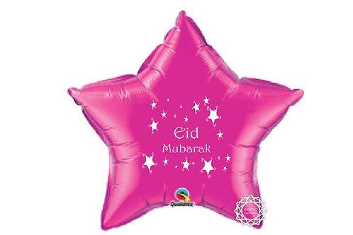 Eid Mubarak  Pink foil balloon