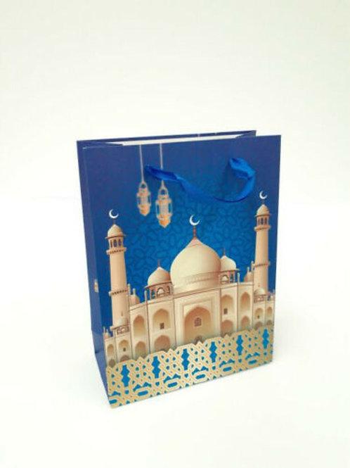 Gift Bag Mosque Design Large (Blue)
