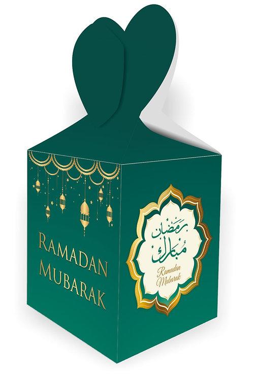 Ramadan Mubarak Gift Boxes (Green/Gold)