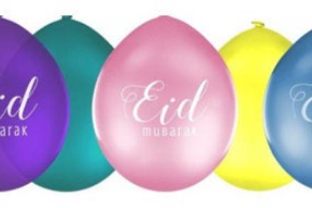 10x Eid Mubarak  Mix Balloon
