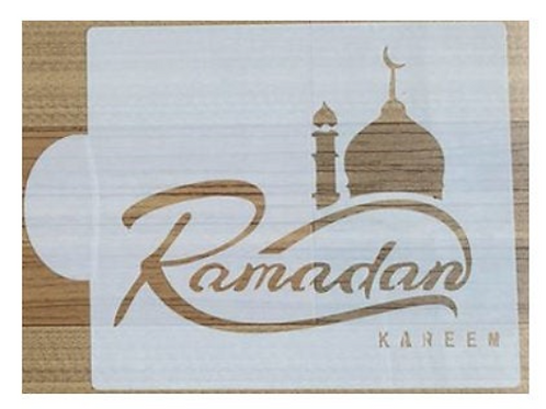 Ramadan Mubarak Cake stencil