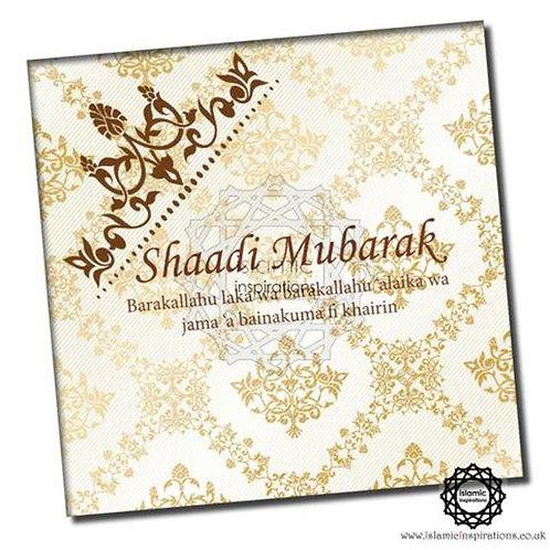 Gold Gilt Shaadi Mubarak
