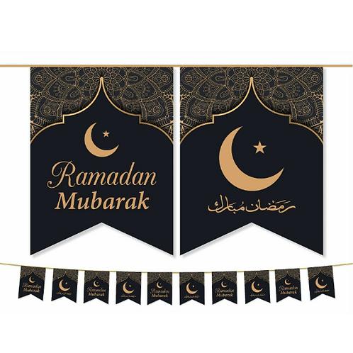 Ramadan Mubarak Flags ( Black / Gold) 2021