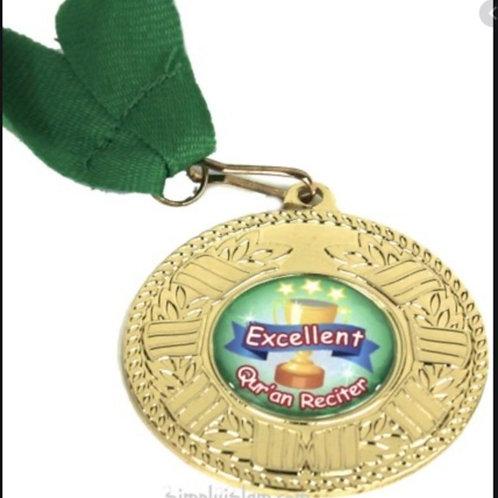 Quran reciter gold medal (green)