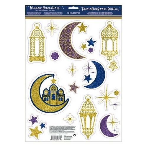 Window Decoration Glitter Eid / Ramadan
