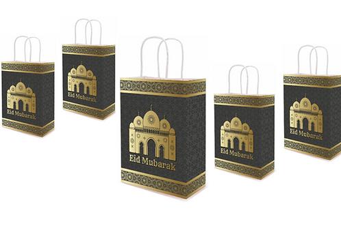 5x Eid Mubarak Paper Gift Bags
