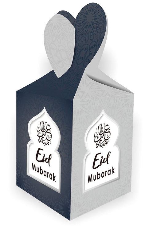 Eid Mubarak Gift Box (Dark Blue & Silver)