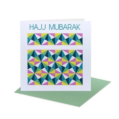 Hajj Mubarak Card - geometric