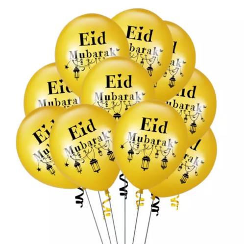 Eid Mubarak Balloons Gold Balloons