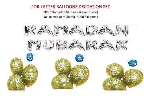 Foil Letter Balloons Set (Sliver)