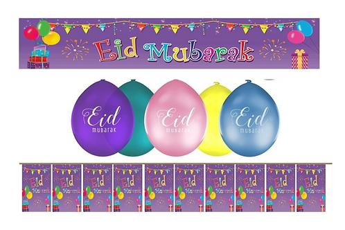Eid Mubarak Purple  Set