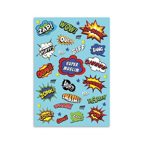 A5 notebook - blue super Muslim