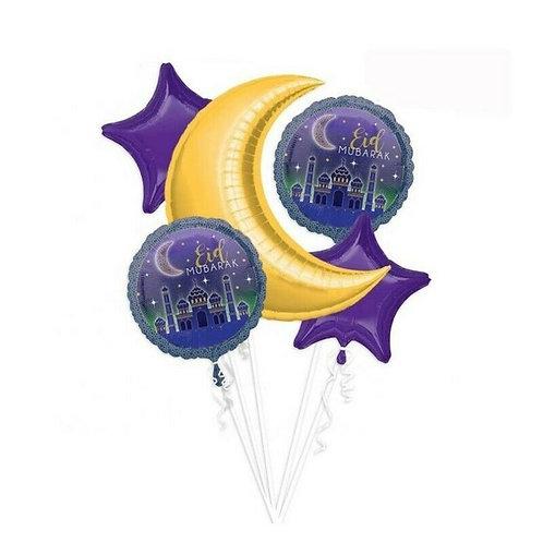 5x Eid Mubarak Balloons