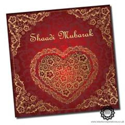 Gold Heart Shaadi Mubarak