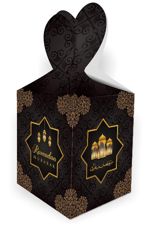 Ramadan Mubarak Gift Boxes (Black/Gold)