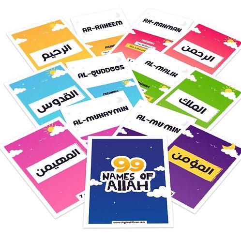 99 Names of Allah Flash Cards