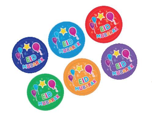 Eid Mubarak Badges (Balloons/Star