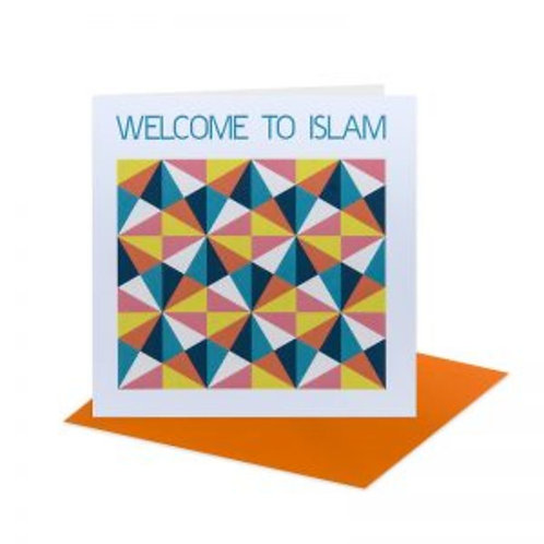 Geometric Welcome to Islam card