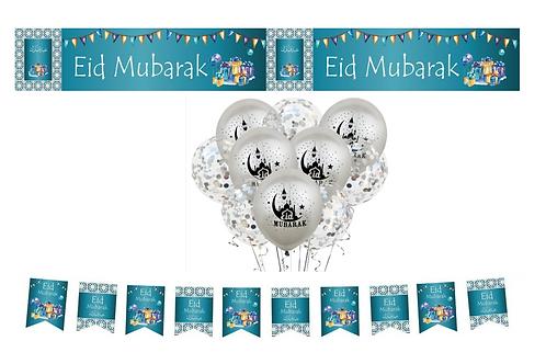 Eid Mubarak Turquoise /Mosaic Set