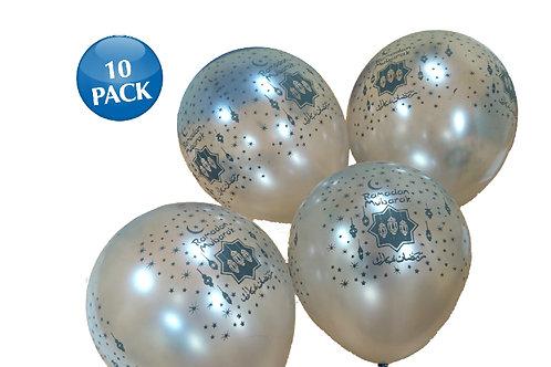 Ramadan Mubarak Balloons  (Silver)
