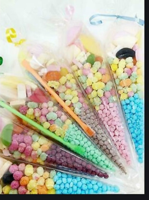 5 Clear Cone Bag With Sweets