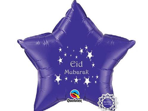 Eid Mubarak  Purple foil balloon