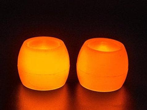 2 pcs round Ivory Wax LED Candle