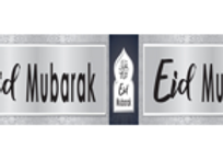Eid Mubarak Navy & Silver Banner