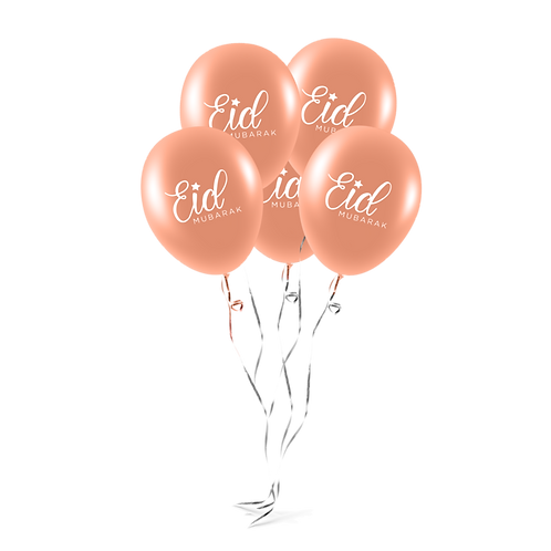 EID Mubarak Balloons (Pack of 10) - RoseGold