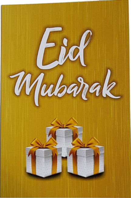 4x Eid Mubarak Card