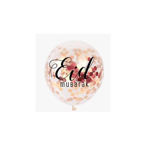 Balloon Eid Mubarak confetti rosegold (5pk)