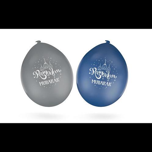 Ramadan Blue/Silver Balloons (10 pack)