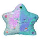 Flippable Sequins My Dua' Pillow – Light Blue & Pearl