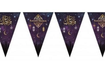 Ramadan Mubarak  - Bunting ( Purple with gold foil)