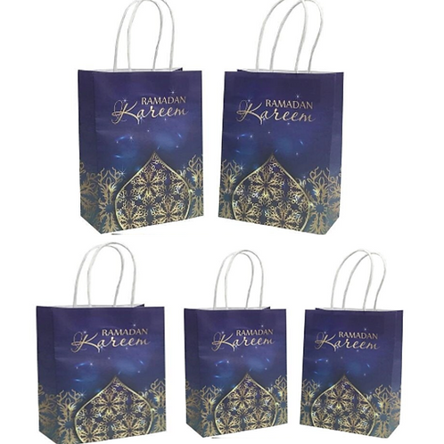 5x Ramadan Kareen Paper Gift Bags