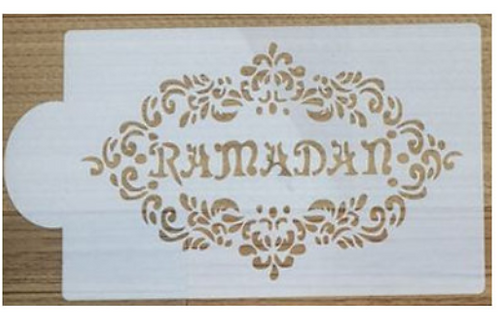 Ramadan Mubarak Cake Stencil,