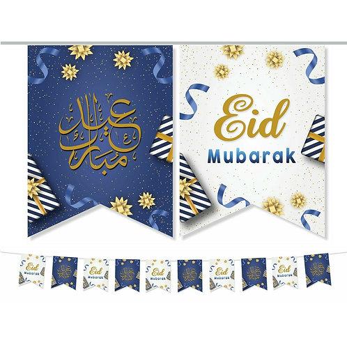 Eid Mubarak Double Bunting ( Blue /White ) 2021