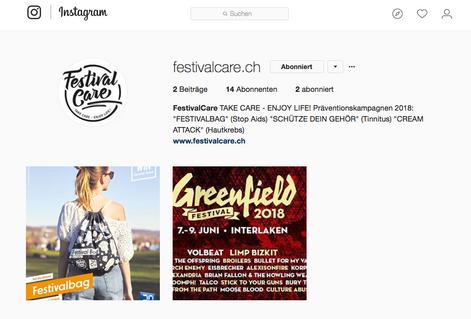 Festival Care auf Instagram