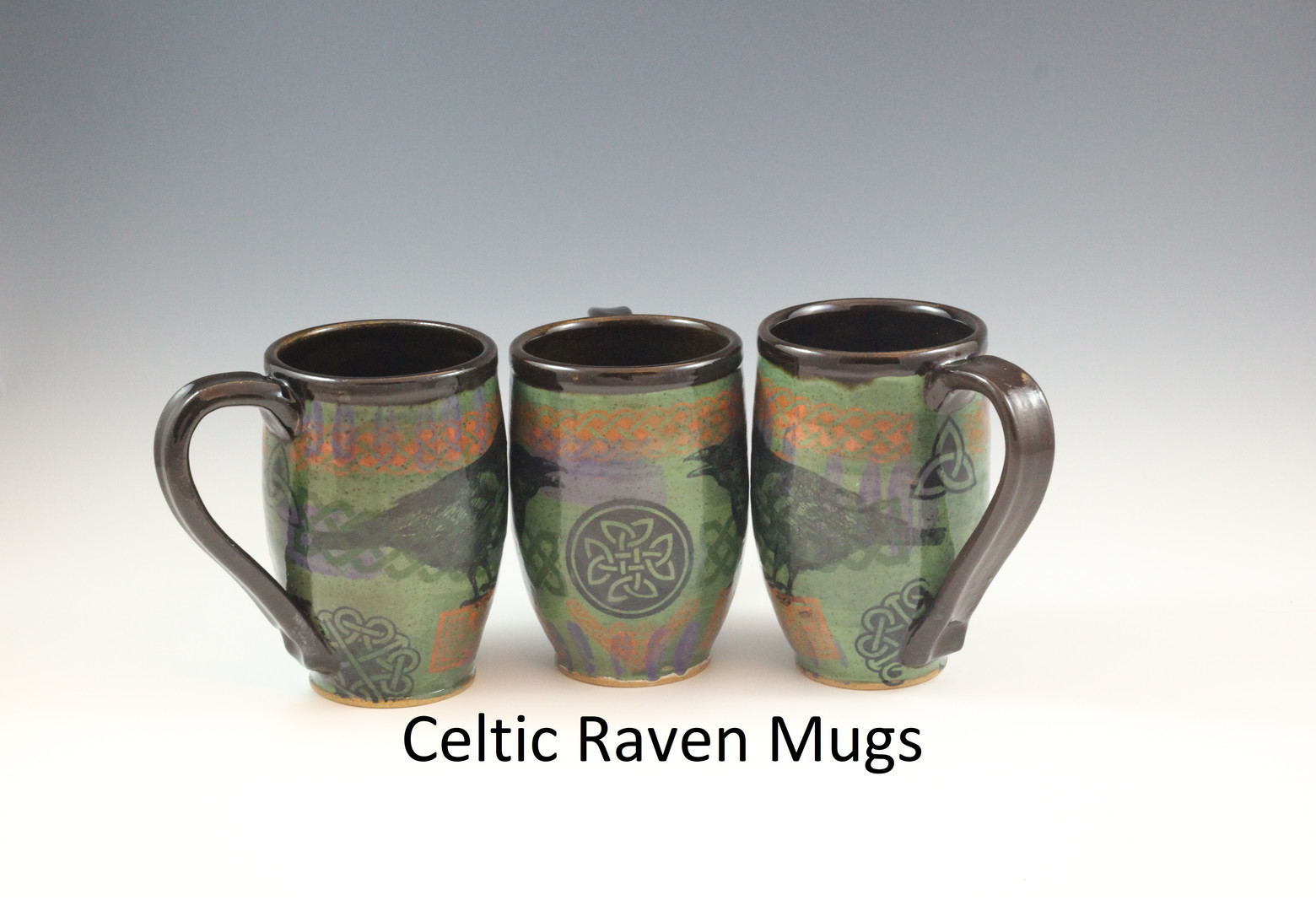 Celtic Raven Mugs