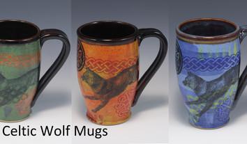 Celtic Wolf Modern Mug