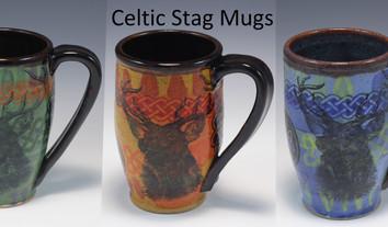 Celtic Stag Modern Mug