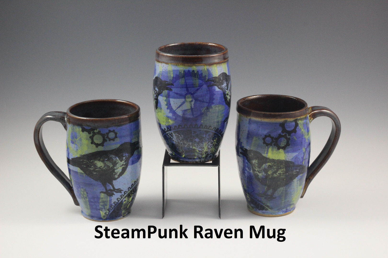 SteamPunk Raven Mugs