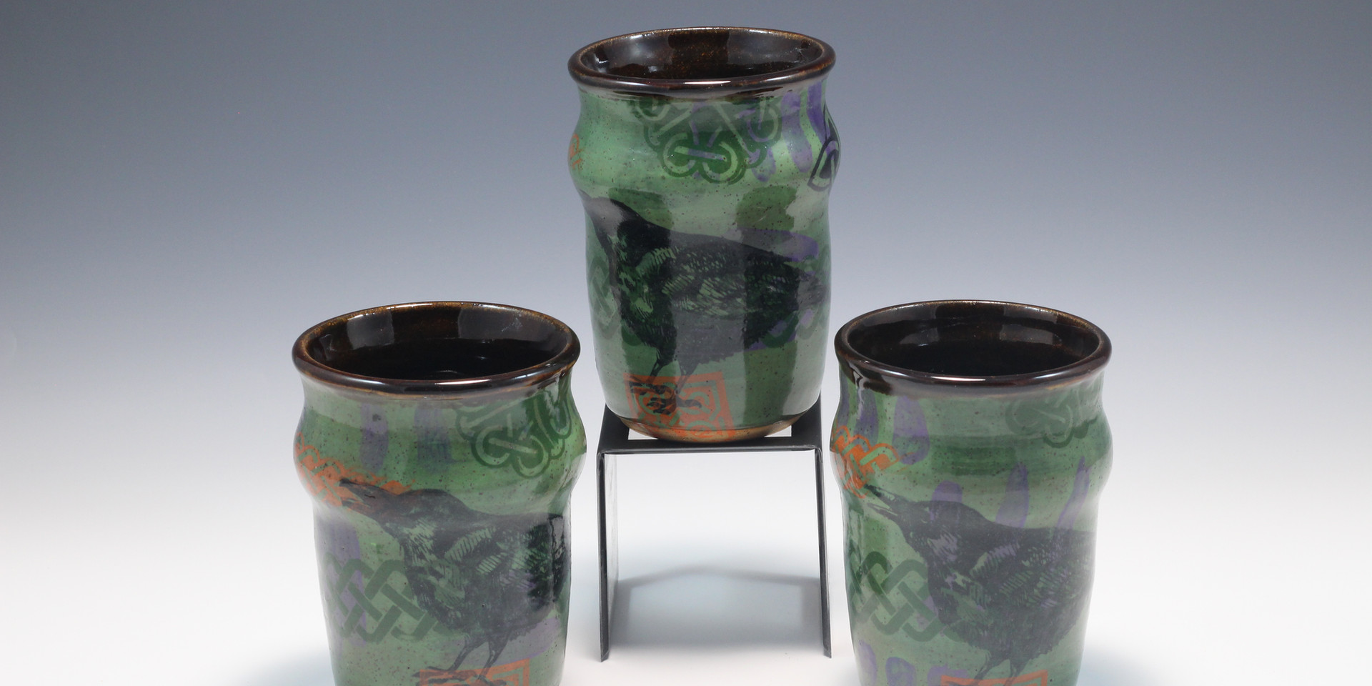 Celtic Raven Cups