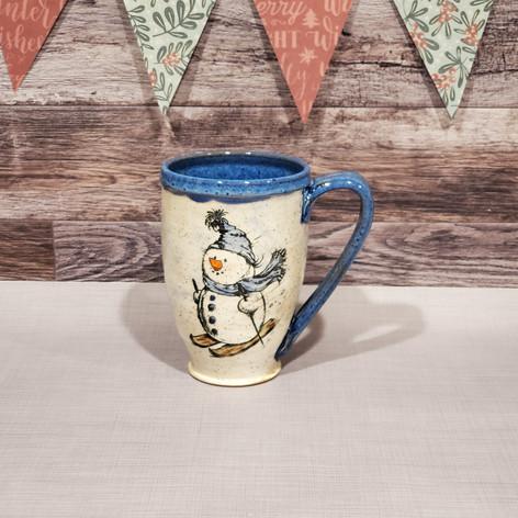 Skiing Snowman Mug