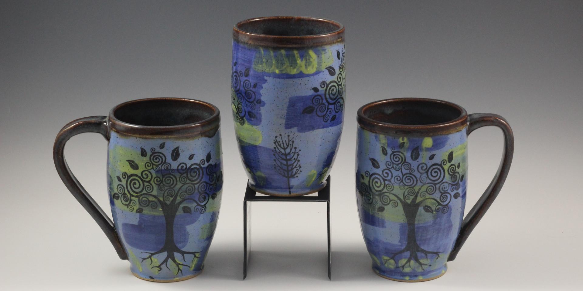 Whimsical Tree/Tree of Life Mugs