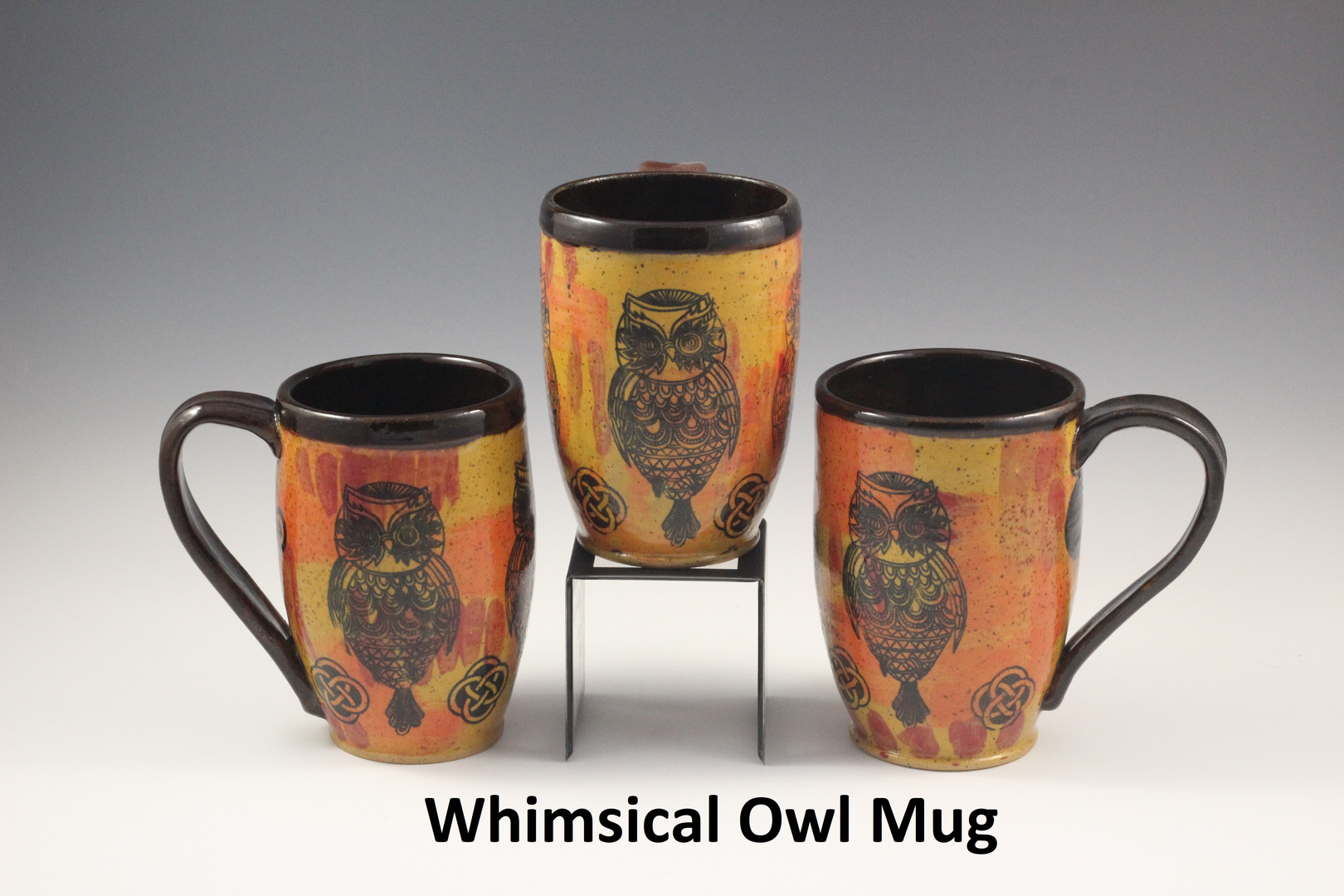 Whimsical Owl Mugs