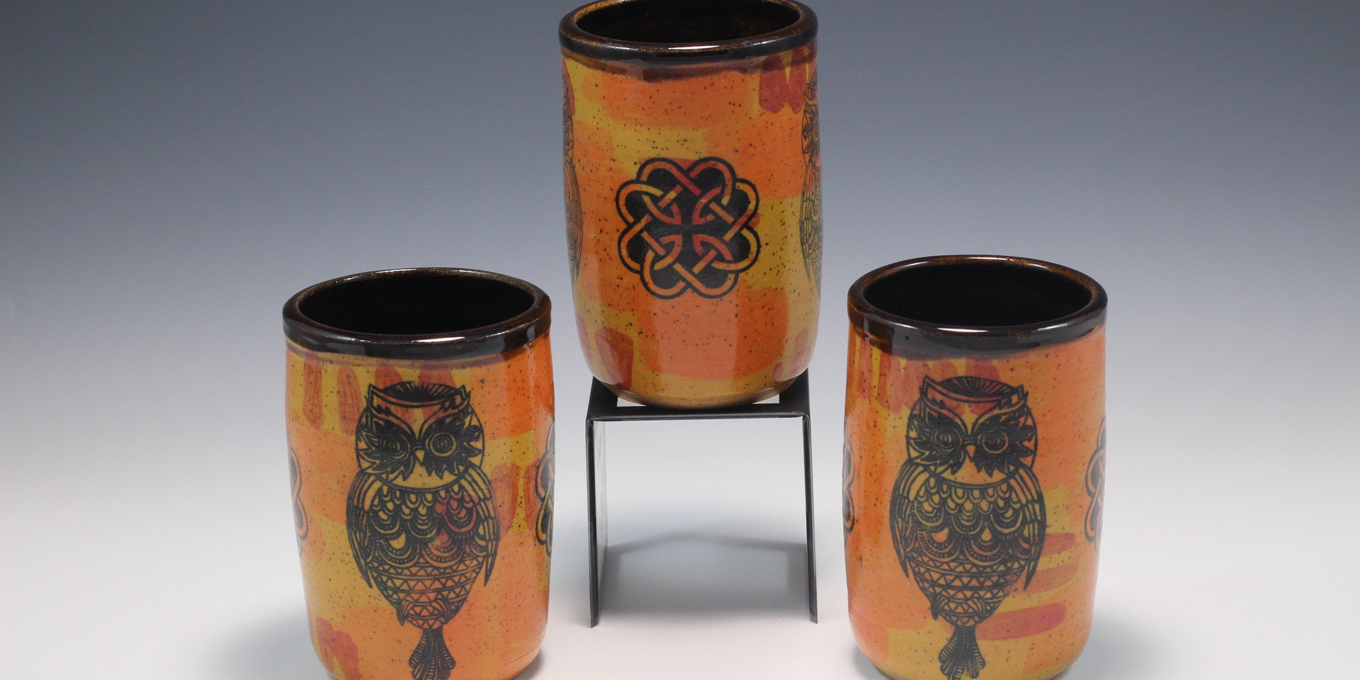 Whimsical Owl Cups