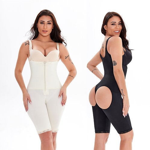 Bodysuit Shapewear Slimming Mid Thigh Shaper With Butt Lifter