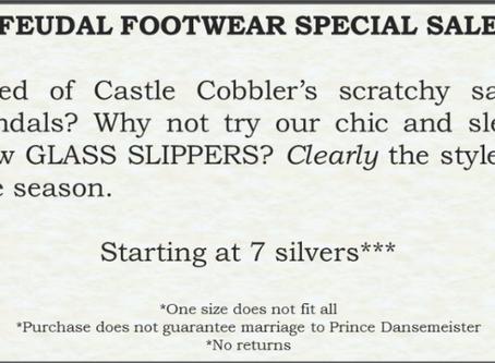Slipper Sales Spoil Prince's Party