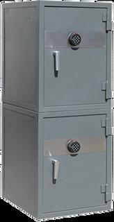 Gabeteros de 12 ó 24 cajones seccionados en dos cajas fuertes